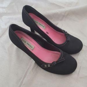 STEVE MADDEN Women's Black Suede Heels Size 7.5